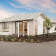 Hishers 300 cottage, elevation, estate, facade, home, house, land lot, property, real estate, residential area, suburb, gray