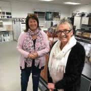 Carolyn Coghlan from Casa Italiana and Debbie Reid girl, gray