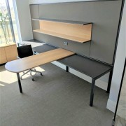 It's lightweight aluminium construction means it's easy to chair, desk, floor, flooring, furniture, office, product, shelving, table, gray