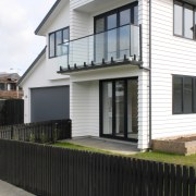 Contemporary design makes much more of your available architecture, building, elevation, facade, home, house, neighbourhood, property, real estate, residential area, siding, window, white, black