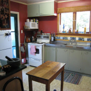 The original kitchen before major renovation by Higham countertop, kitchen, property, real estate, room, gray