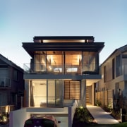 Roar Northcurlcurl House 03S architecture, building, elevation, facade, family car, home, house, luxury vehicle, property, real estate, residential area, window, black