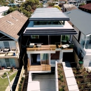 Roar Northcurlcurl House 06S architecture, building, daylighting, home, house, property, real estate, residential area, roof, black
