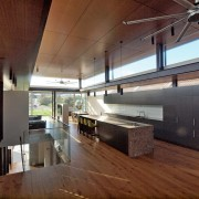 Roar Northcurlcurl House 21S architecture, ceiling, house, interior design, loft, real estate, brown