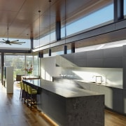 Roar Northcurlcurl House 23S architecture, ceiling, countertop, floor, house, interior design, kitchen, loft, gray, brown
