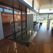 Roar Northcurlcurl House 24S floor, flooring, glass, handrail, house, interior design, property, real estate, brown, gray