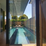 Roar Northcurlcurl House 36S architecture, condominium, daylighting, estate, glass, house, interior design, property, real estate, swimming pool, window, gray