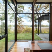 It's tough to beat the view from this architecture, daylighting, door, estate, home, house, interior design, property, real estate, window, gray