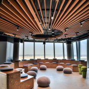 Smart Dubai architecture, ceiling, daylighting, furniture, interior design, lobby, table, brown