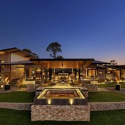 See the home here estate, hacienda, home, house, landscape, lighting, mansion, property, real estate, residential area, resort, sky, villa, brown, blue