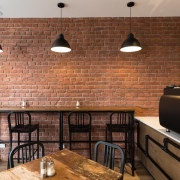 Muros: 'Bringing walls to life' - Concrete | brick, brickwork, ceiling, countertop, floor, flooring, hardwood, interior design, room, wall, wood, wood flooring, brown, black