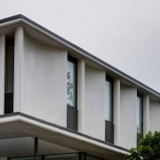 A Horizon Habitats project architecture, building, daylighting, daytime, facade, home, house, roof, siding, sky, window, gray