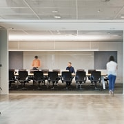 The Boardroom at ADCO Constructions offices, Melbourne, can conference hall, office, gray
