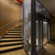 This new headquarters for the European Union Council architecture, floor, glass, interior design, lobby, brown