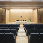 Palace of Justice building | Mecanoo + Ayesa auditorium, conference hall, function hall, performing arts center, black, brown
