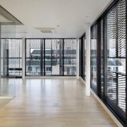 The 925 Building apartment, architecture, building, condominium, daylighting, floor, glass, handrail, interior design, property, real estate, window, gray