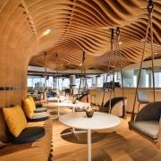 Smart Dubai architecture, ceiling, interior design, lobby, brown, orange