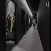 In this anti-chamber, the four enclosing walls are architecture, darkness, black, gray