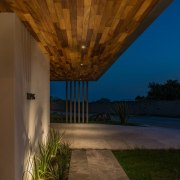 Colima home/Di Frenna Arquitectos architecture, ceiling, daylighting, estate, home, house, interior design, lighting, property, real estate, reflection, sky, wall, wood, brown
