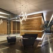 Promenade Aqui by Woods Bagot architecture, ceiling, floor, flooring, interior design, lobby, black, brown