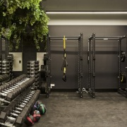 Upwell Health Collective – Siren Design Group Pty gym, room, sport venue, structure, black