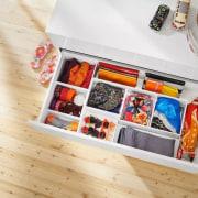 Slim, minimalist design and diverse setting options – product, white, orange
