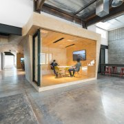 Another small meeting room floor, flooring, interior design, lobby, loft, property, real estate, wood flooring, gray