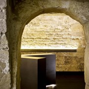 This new whiskey bar takes advantage of a ancient history, arch, architecture, history, ruins, window, brown