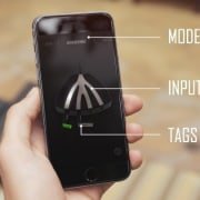 Lightpack mobile app cellular network, communication device, electronic device, feature phone, gadget, mobile phone, portable communications device, product, product design, smartphone, technology, orange, black