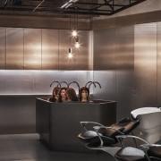 H Academy – Shi-Chieh Lu/CJ Studio bathroom, countertop, flooring, interior design, kitchen, product design, black