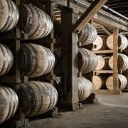 Barrel house barrel, tire, winery, wood, black, gray