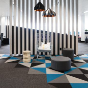 Austbrokers Countrywide – New office designed by A1 floor, flooring, furniture, interior design, lobby, product design, white, black