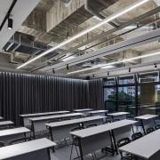 H Academy – Shi-Chieh Lu/CJ Studio daylighting, interior design, black, gray