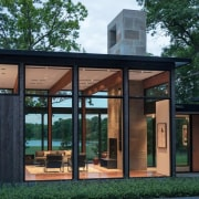 Tidy landscaping surrounds the property architecture, facade, house, orangery, window, black