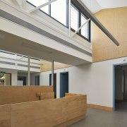 Tom Fisher House architecture, daylighting, floor, house, interior design, lobby, window, gray