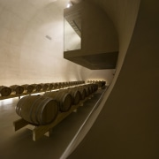 This room hangs out over the tunnel architecture, daylighting, interior design, product design, stairs, brown