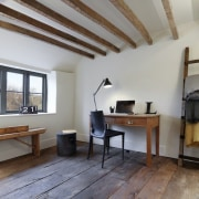 A tidy home office property, real estate, gray