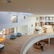 Zaans Medical Centre – Mecanoo architecture, ceiling, daylighting, floor, interior design, real estate, gray, brown