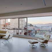 Alcatraz in the afternoon apartment, architecture, ceiling, condominium, daylighting, floor, house, interior design, living room, penthouse apartment, property, real estate, window, gray