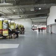 569 firestation automobile repair shop, hangar, motor vehicle, transport, vehicle, gray