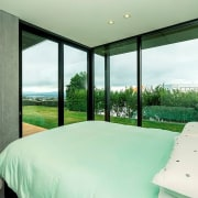 Registered Master Builders – House of the Year architecture, bedroom, estate, house, interior design, property, real estate, room, suite, window, green