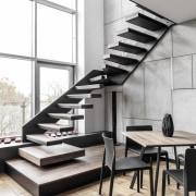 Architect: MetaformaPhotography by Krzysztof Strażyński architecture, floor, furniture, interior design, product design, stairs, table, white
