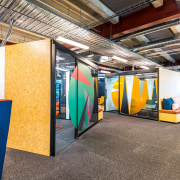 Boss Design (UK) created the versatile, acoustically rated architecture, interior design