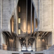 The Zeitz Museum of Contemporary Art Africa (Zeitz arch, architecture, building, gray