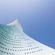 Icon Yuanduan Tower architecture, building, daytime, landmark, line, sky, skyscraper, teal