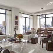 Jon Bon Jovi's new apartment in NYC – apartment, home, interior design, living room, penthouse apartment, property, real estate, room, window, window treatment, gray