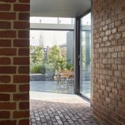 The brick in the tunnel apartment, architecture, brick, door, estate, floor, home, house, interior design, property, real estate, wall, window, brown, gray