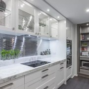 Designed by Kira Gray, Fyfe Kitchens. Photography by countertop, interior design, kitchen, gray