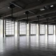 569 firestation daylighting, floor, flooring, structure, warehouse, black, white