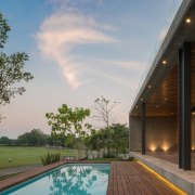 Colima home/Di Frenna Arquitectos architecture, estate, home, house, lighting, property, real estate, residential area, sky, swimming pool, gray, brown
